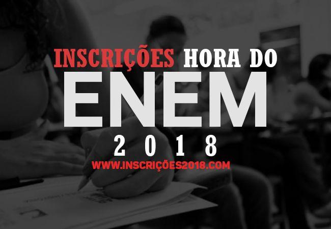 Inscrição Hora do ENEM 2018