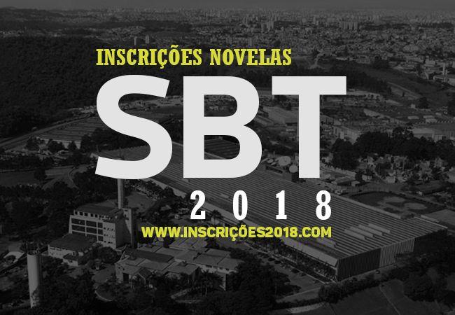 SBT inscrições para novela
