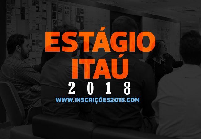 Estágio Itaú 2018