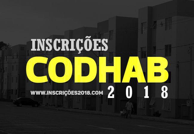 CODHAB inscrições 2018