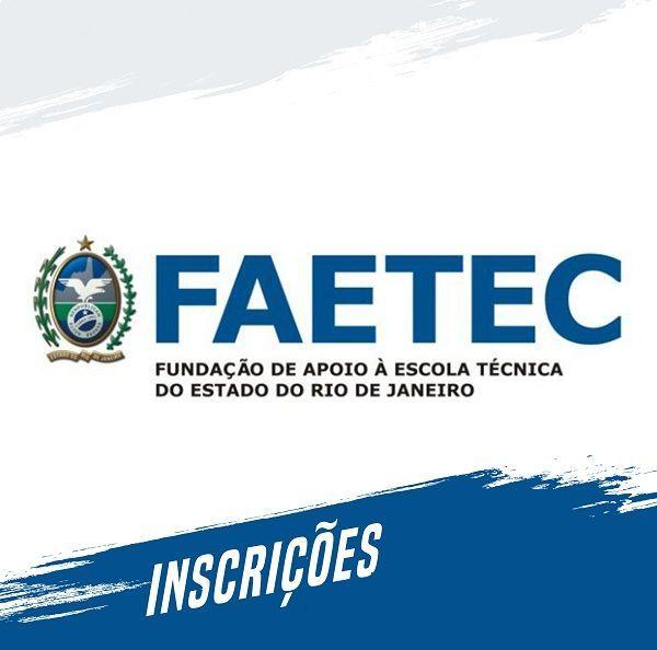 Inscrições FAETEC 2019