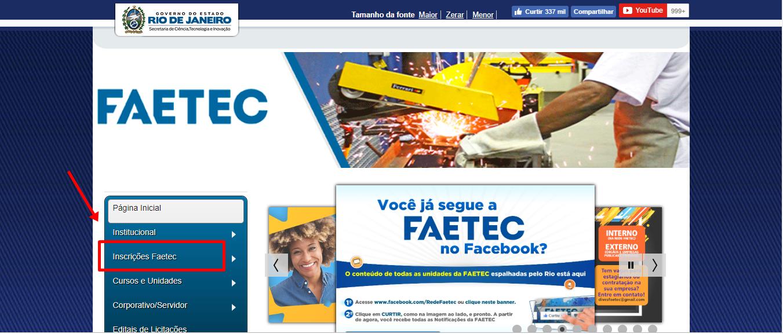 Inscrições FAETEC 2020