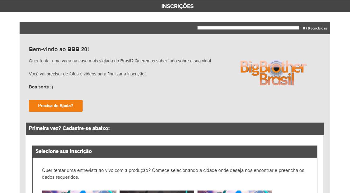 Site Oficial Big Brother Brasil