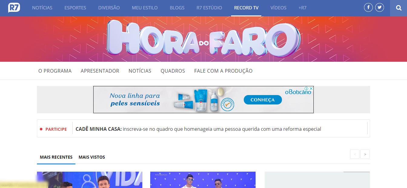 Hora do Faro inscrições online