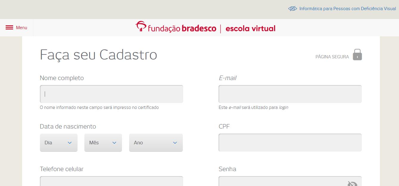 Site Oficial Fundação Bradesco