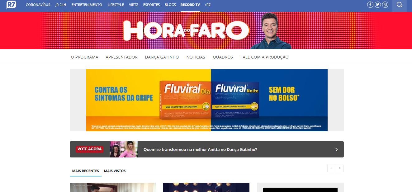 Site de inscrição Hora do Faro
